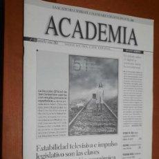 Cine: ACADEMIA 93. BOLETÍN DE CINE DE LA ACADEMIA. GRAPA. BUEN ESTADO. DIFICIL. Lote 227644480