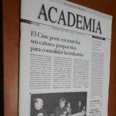 Cine: ACADEMIA 88. BOLETÍN DE CINE DE LA ACADEMIA. GRAPA. BUEN ESTADO. DIFICIL. Lote 227644505