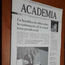 Cine: ACADEMIA 91. BOLETÍN DE CINE DE LA ACADEMIA. GRAPA. BUEN ESTADO. DIFICIL. Lote 227644580