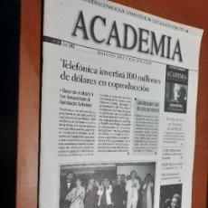Cine: ACADEMIA 59. BOLETÍN DE CINE DE LA ACADEMIA. GRAPA. BUEN ESTADO. DIFICIL. Lote 227644625