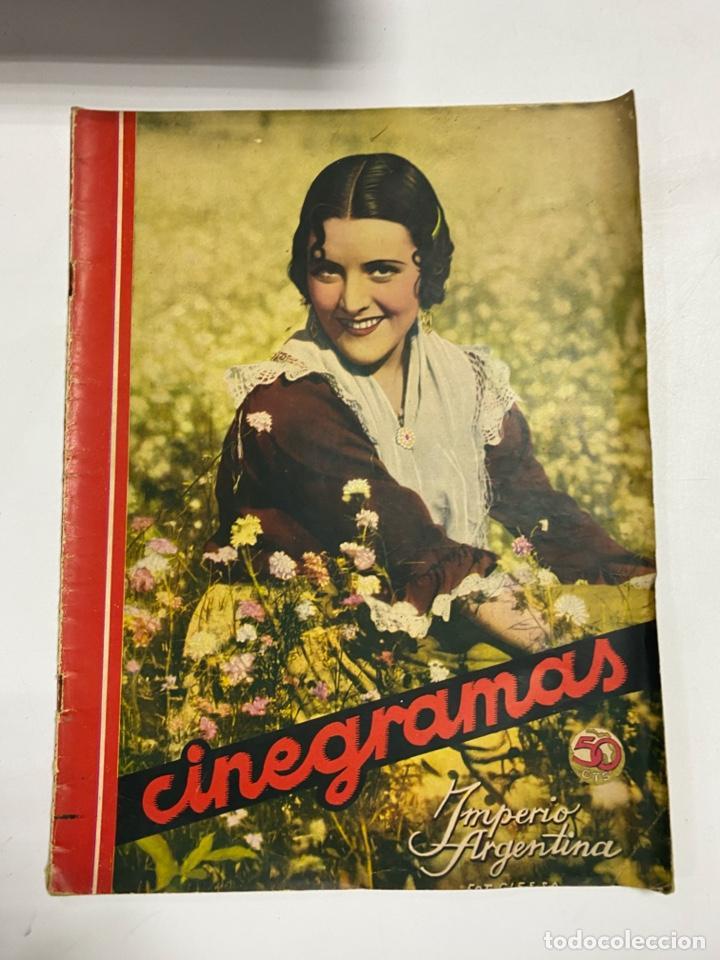 CINEGRAMAS. REVISTA SEMANAL. IMPERIO ARGENTINA. AÑO III. NUMERO 81. MARZO 1936. VER FOTOS (Cine - Revistas - Cinegramas)