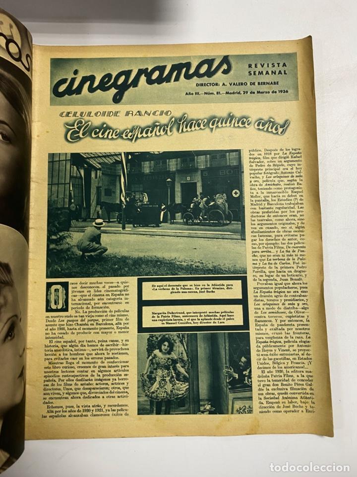 Cine: CINEGRAMAS. REVISTA SEMANAL. IMPERIO ARGENTINA. AÑO III. NUMERO 81. MARZO 1936. VER FOTOS - Foto 2 - 228253790