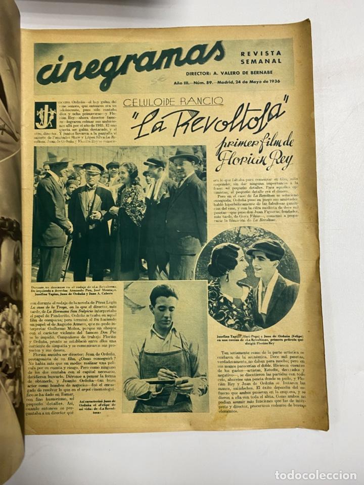 Cine: CINEGRAMAS. REVISTA SEMANAL.DELMA BYRON. AÑO III. NUMERO 89. MAYO 1936. VER FOTOS - Foto 2 - 228253890