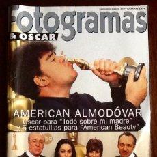 Cine: FOTOGRAMAS & OSCAR 1999. - AMERICAN ALMODOVAR -EL ENVIO ESTA INCLUIDO.. Lote 228323400