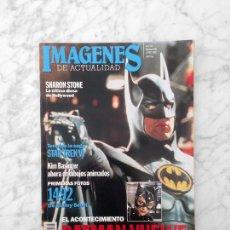 Cine: IMAGENES - Nº 105 - 1992 - BATMAN, BRAD PITT, MARLENE DIETRICH, STAR TREK, CRONENBERG, SHARON STONE. Lote 228484810