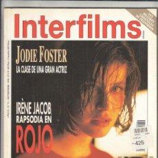 Cine: REVISTA INTERFILMS Nº 72 AÑO 1994 JODIE FOSTER. IRÉNE JACOB RAPSODIA EN ROJO. SANDRA BULLOCK.. Lote 229150155