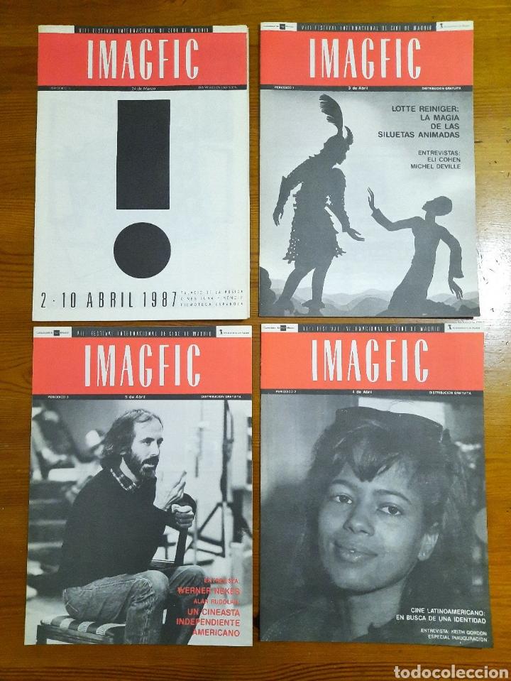 8 CUADERNOS / PERIÓDICOS IMAGFIC 87 (Cine - Revistas - Otros)