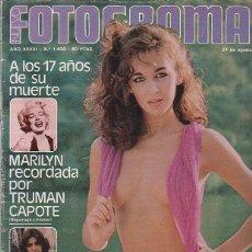 Cine: NUEVO FOTOGRAMAS Nº 1609,A LOS 17 AÑOS DE SU MUERTE MARILYN,ADRIANA VEGA, FIORELLA FALTOYANO,. Lote 229750875