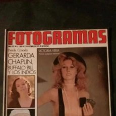 Cinéma: FOTOGRAMAS 1409-1975-VICTORIA VERA-ANTONIO ISASI-GERALDINE CHAPLIN-OVIDI MONTLLOR. Lote 229753365