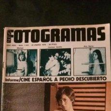 Cinéma: FOTOGRAMAS 1423-1976-YOLANDA RIOS-MARISOL-KAREN BLACK-GRACE KELLY-TELLY SAVALAS-LA CANÇÓ. Lote 229754545