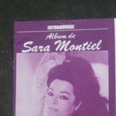 Cine: FOTOGRAMAS-ALBUM DE SARA MONTIEL-16 PÁGINAS. Lote 230069205
