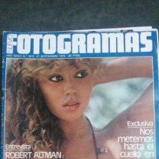 Cinéma: FOTOGRAMAS 1612-JAMES BOND-GRACE KELLY-TEQUILA-DAVID BOWIE-EL CRIMEN DE CUENCA-ROBERT ALTMAN. Lote 230071700