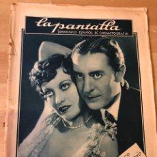 Cinéma: REVISTA LA PANTALLA OCT 1928 JOAN CRAWFORD.PEPE HILLO MARÍA CABALLE.CLARA BOW.RENAULT.RADIO PHILLIPS. Lote 230077840