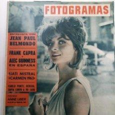Cine: FOTOGRAMAS Nº 729 - AÑO XVII - 16 DE NOVIEMBRE DE 1962. Lote 230380625