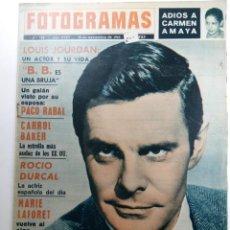 Cine: FOTOGRAMAS Nº 782 - AÑO XVIII - 22 DE NOVIEMBRE DE 1963. Lote 230380970