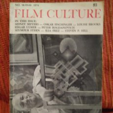Cine: FILM CULTURE 58-59-60 1974. SIDNEY MEYERS, LOUISE BROOKS, EDGAR ULMER, PETER BOGDANOVICH, FISCHINGER. Lote 230381845