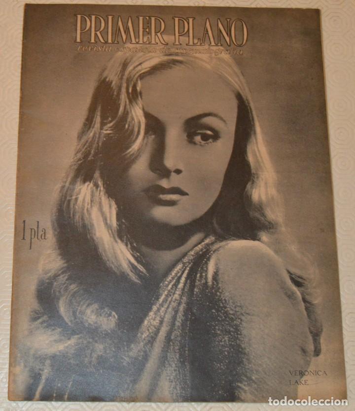 VERÓNICA LAKE / JOHN PAYNE - 1943 - PRIMER PLANO (Cine - Revistas - Primer plano)