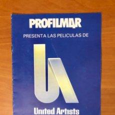 Cinéma: PROFILMAR PRESENTA: LAS PELICULAS DE UNITED ARTISTS, AÑO 1984. Lote 230369245