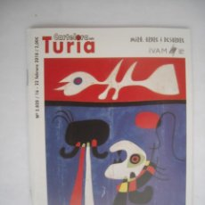 Cine: CARTELERA TURIA Nº 2820 2020 PORTADA JOAN MIRO ORDRE I DESORDRE ORDEN Y DESORDEN. Lote 230806810