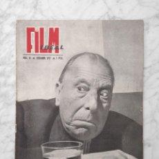 Cine: FILM IDEAL - Nº 14 - 1957 - JOSE ISBERT, RENE CLAIR, ALFRED HITCHCOCK, RAFAEL GIL, CARLOS SAURA. Lote 231048225