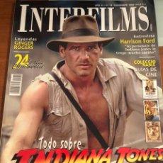Cine: INTERFILMS NÚM 179. NOVIEMBRE 2003. TODO SOBRE INDIANA JONES. Lote 231353675