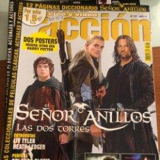 Cinéma: ACCION CINE Y VÍDEO NÚM 127. AÑO 11. RESERVADO.EL SEÑOR DE LOS ANILLOS ( POSTERS INCLUIDOS ). Lote 231381885