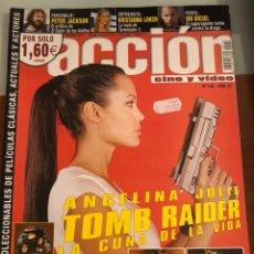 Cinema: ACCIÓN CINE Y VÍDEO. NÚM 136. RESERVADO.AÑO 12. TOMB RAIDER ( POSTERS INCLUIDOS). Lote 231389920