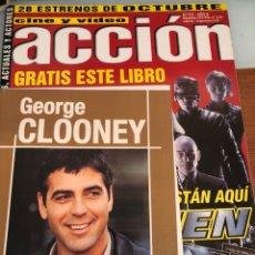 Cinema: RESERVADO ACCIÓN CINE Y VÍDEO. NÚM 101. X-MEN. POSTERS INCLUIDOS Y LIBRITO DE GEORGE CLOONEY.. Lote 231628965
