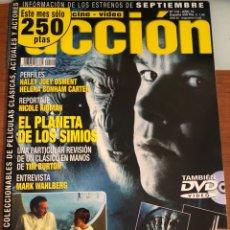 Cinema: ACCIÓN CINE Y VÍDEO. NÚM 112. AÑO 10. RESERVADO.EL PLANETA DE LOS SIMIOS. POSTERS INCLUIDOS. Lote 231629570
