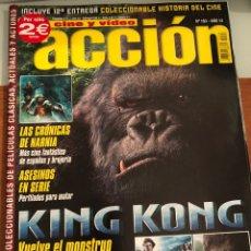 Cine: ACCIÓN. CINE Y VÍDEO. NÚM 163. AÑO 14. KING KONG. Lote 231635120