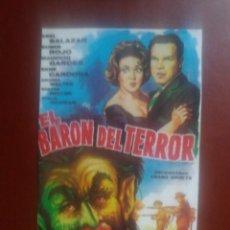 Cinéma: EL BARÓN DEL TERROR. Lote 231730680