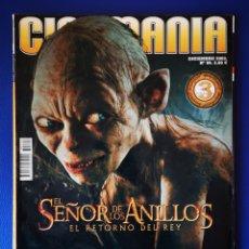 Cine: CINEMANIA - EL SEÑOR DE LOS ANILLOS - EL RETORNO DEL REY - 12 2003. Lote 231806215
