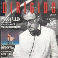 Cine: REVISTA DIRIGIDO POR Nº 286 AÑO 2000. WOODY ALLEN. SWEET AND LOWDOWN.RAUL WALSH. DAVID LYNCH.. Lote 231864260