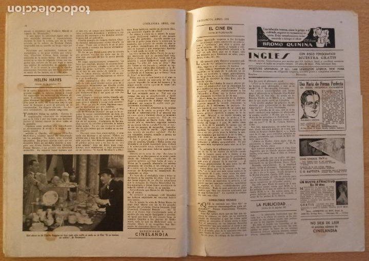 Cine: T - REVISTA CINELANDIA - ABRIL 1933 - TOMO VII - Nº 4 - CLAUDETTE COLBERT - Foto 5 - 232098005