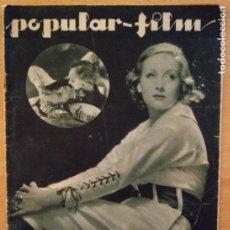 Cine: T - REVISTA POPULAR-FILM - Nº 351 - AÑO VIII - 4 MAYO 1933 - JOAN CRAWFORD. Lote 232105050