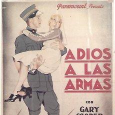 Cinema: ADIOS A LAS ARMAS. Lote 232333930