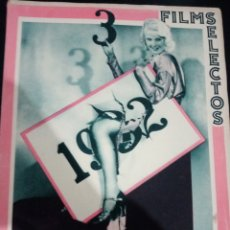 Cinema: REVISTA FILMS SELECTOS DICIEMBRE 1932,CARLOS GARDEL, GOYITA HERRERO, CHARLES LAUGHTON, JAMES HALL,. Lote 232373130