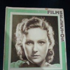 Cinema: REVISTA FILMS SELECTOS 1933, DOROTHY JORDAN, CLAUDETTE COLBERT, WILLIAM POWELL, BARBARA STANWICK. Lote 232373725
