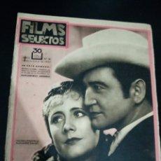 Cinema: REVISTA FILMS SELECTOS 1931,IRENE DUNNE,CARLOS GARDEL, WILLIAM POWELL, MARLENE DIETRICH, GARY COOPER. Lote 232376535