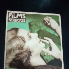 Cinema: REVISTA FILMS SELECTOS 1932, POLA NEGRI, BASIL RATHBONE, JOHN BARRYMORE, TARZAN,. Lote 232396610
