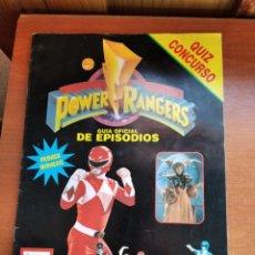Cinema: POWER RANGERS - GUIA OFICIAL DE EPISODIOS - Nº 1 - 1995 - 32 PAGINAS. Lote 232577690