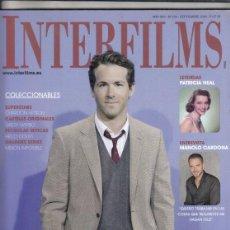 Cine: REVISTA INTERFILMS Nº 254 AÑO 2010. RYAN REYNOLDS. MANOLO CARDONA. PATRICIA NEAL.. Lote 232637580