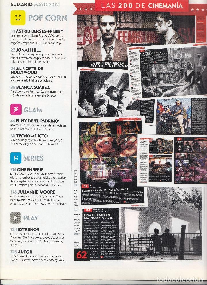 Cine: REVISTA CINEMANIA Nº 200 AÑO 2012. LAS 200 MEJORES PELÍCULAS DE TODOS LOS TIEMPOS. - Foto 2 - 232837825