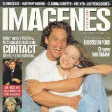 Cine: REVISTA IMAGENES DE ACTUALIDAD Nº 162 AÑO 1997. HARRISON FORD. JODIE FOSTER Y MATTHEW MCCONAUGHEY.. Lote 232838130