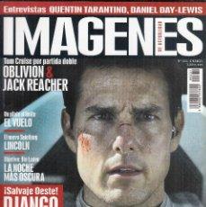 Cine: REVISTA IMAGENES DE ACTUALIDAD Nº 331 AÑO 2013. QUENTIN TARANTINO. DANIEL DAY-LEWIS. TOM CRUISE.. Lote 232838715