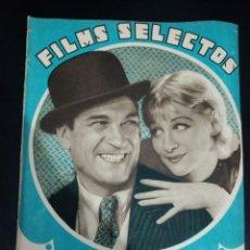 Cinema: REVISTA FILMS SELECTOS 1933 GRETA NISSEN, GRETA GARBO, CARLOS GARDEL. Lote 232856950