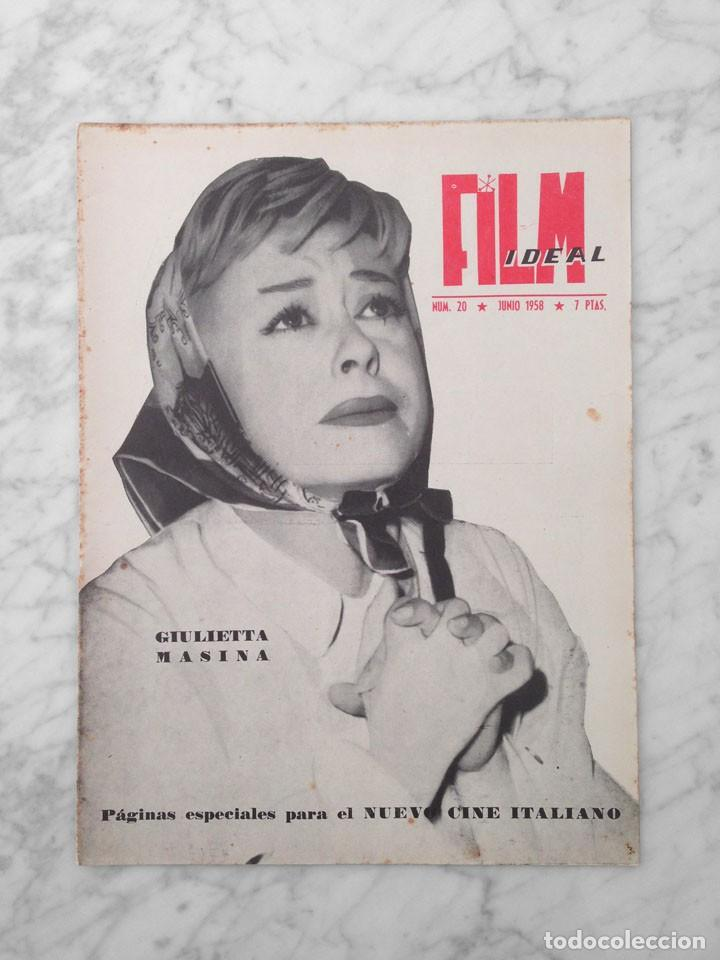 FILM IDEAL - Nº 20 - 1958 - GIULIETTA MASINA, VISCONTI, ROSSELLINI, VITTORIO DE SICA, ANTONIONI (Cine - Revistas - Film Ideal)