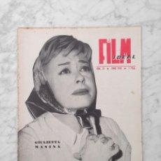 Cine: FILM IDEAL - Nº 20 - 1958 - GIULIETTA MASINA, VISCONTI, ROSSELLINI, VITTORIO DE SICA, ANTONIONI. Lote 233215690