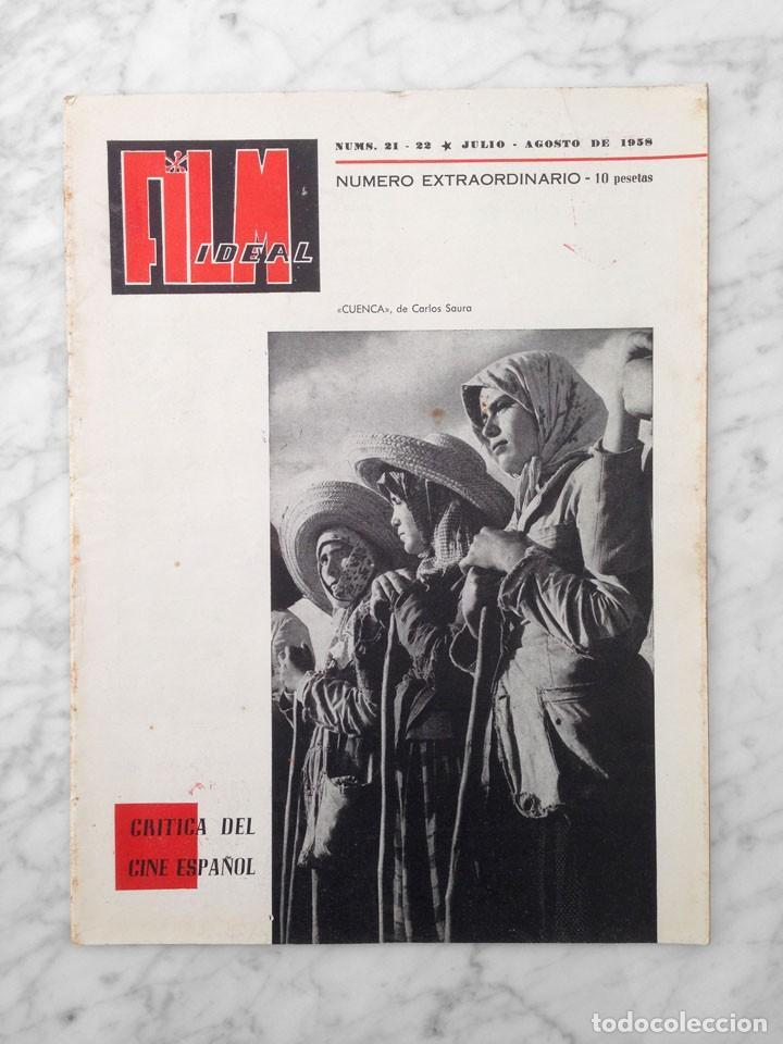 FILM IDEAL - Nº 21-22 - 1958 - CRITICA DEL CINE ESPAÑOL, ORSON WELLES, DON QUIJOTE (Cine - Revistas - Film Ideal)