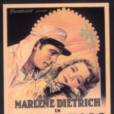 Cinema: P-9174- MARRUECOS (MOROCCO) MARLENE DIETRICH - GARY COOPER - ADOLPHE MENJOU. Lote 233349420